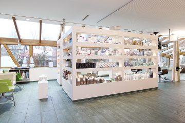 Inneneinrichtung des Friseursalons Haarmonie in Nordwalde.