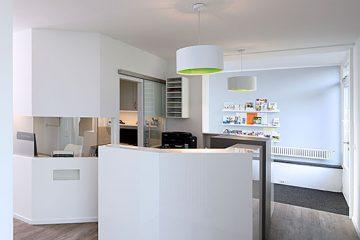 Empfangstresen, Hausarzt-Praxis Böggemeyer in Nienberge.