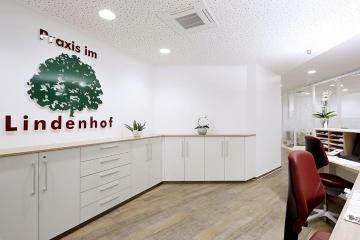 Empfang in der Arztpraxis im Lindenhof, Altenberge.